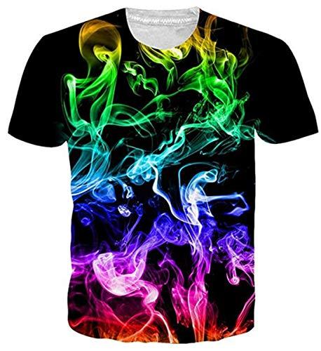 Sykooria T-shirt Heren Heren T-shirts 3D-print Korte mouw Ronde hals met Overal patroon Zomer T-shirts