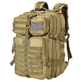 Himal Military Tactical Backpack - Large Army 3 Day Assault Pack Molle Bag Rucksack,40L (Khaki)