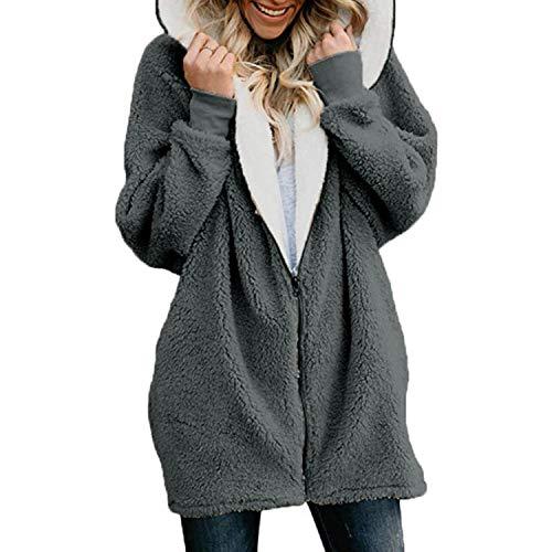 Winter Fashion Womens Sweater Long Sleeve Loose Knitting Hooded Cardigan Sweater Women Female Cardigan Pull Femme Shui 5XL