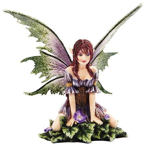 "New 2013 Amy Brown Fantasy Wild Violet Faery Mushroom Fairy Statue Enchanted 6""h Figurine"