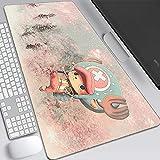 Alfombrillas De Ratón One Piece Gaming Mouse Pad 80X30Cm Gran Teclado De Goma De La Historieta del Animado del Ordenador Mat Pc con El Borde De Bloqueo del Cojín del Juego-D_400x900x3MM