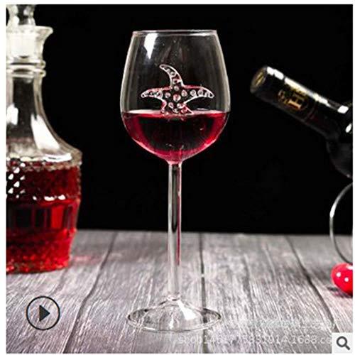 Ingebouwde haai wijn glas nieuw ontwerp Goblet Whiskey glas diner versieren handgemaakte kristal voor partij fluiten glas 4
