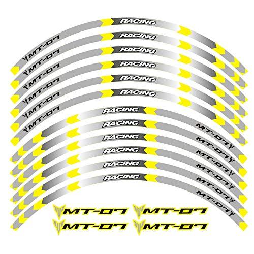 Pegatinas reflectantes 4 colores para Yamaha MT-07 motocicleta ruedas calcomanías reflectantes pegatinas para llantas MT 07 moto Mt07 (color 2)