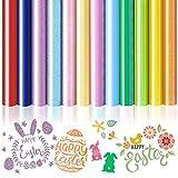 Jodimitty Pack de 12 láminas de vinilo para plóter textil, para manualidades y manualidades (multicolor)