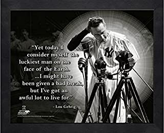 Lou Gehrig New York Yankees MLB Pro Quotes Photo (Size: 9