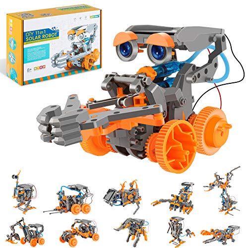 RCSPACEX Stem Project Toys for Kids,11 in 1 Solar Robot Science Experiment Kit for Boys Age 8-12, 231 Pieces DIY Learning Education Building Set for Boys and Girls