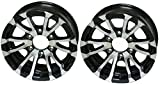 Two Aluminum Trailer Rims Wheels 6 Lug 15 in. Avalanche V-Spoke/Black