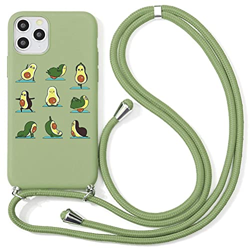 Yoedge für Xiaomi Pocophone F1 Handy Hülle Silikon Schutzhülle Handyhülle Necklace mit Kordel zum Umhängen Handykette Schnur Bumper Hülle Hülle Kompatibel mit Pocophone F1 6,18 Zoll, Avocado