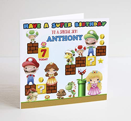 Super Mario Inspired Birthday Card