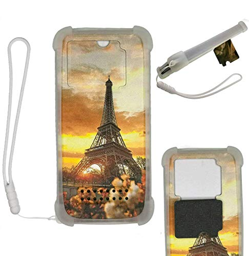 HUAYIJIE Case For Motorola Moto E7 2020 Case Silicone border + PC hard backplane Stand Cover WXTT