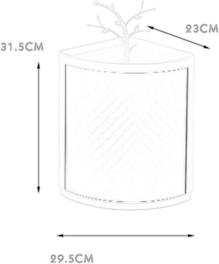 Bad-Drehgestell Bad-Waschtisch-Dreieck-Eckschrank frei lochend wei/ß//grau