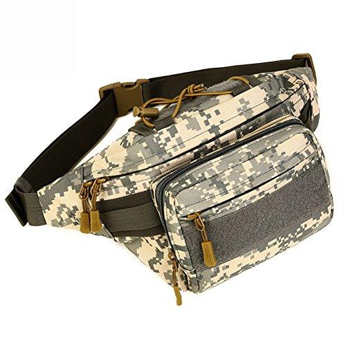 Fancybox Tactique Militaire Wasit Fanny Pack Molle Hip Bag Bumbag pour Randonnée Course Marche Trekking, Camouflage ACU