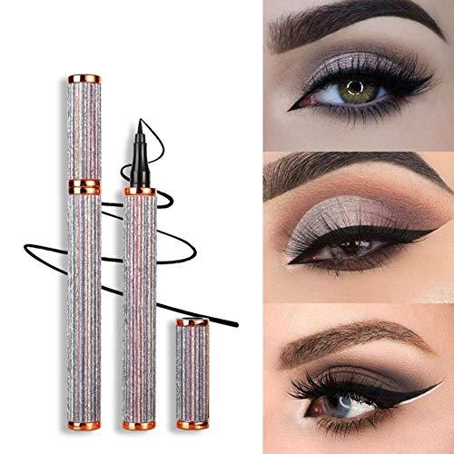 BHUJYG Eyeliner, Starry Goldfeder Eyeliner-Flüssigkeit Grad Feine Wasserdicht und Schweiß-Proof Lasting Nicht Smudged Eyeliner langlebige Natur