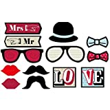 Baby Shower Photobooth - 13pcs Photo Booth Props Photobooth Wedding Photography Prop Moustaches Lips Diy - Scrub Advanced Baby Full Lips Enhancer Lipstick Candy Plumping City Lightening Gloss Good