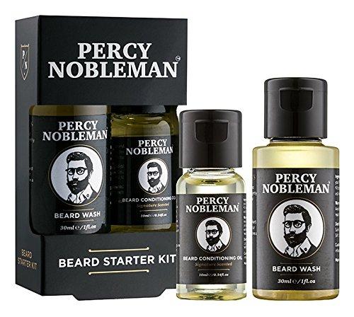 Beard Grooming Kit - A Beard Starter Kit Containing A Beard Oil \u0026amp; Beard Wash By Percy Nobleman 40ml