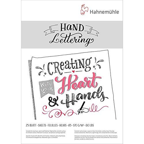 Hand Lettering Block 170g/m², DIN A5, 25Blatt