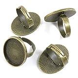 30 pièces Bronze antique Bijoux Charms U00040 Bague ovale v