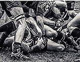 Puzzles Puzzle 500 pièces Puzzles Sport Rugby Football Close Up Game Art Enfants Adultes Loisirs Jeu Drôle Jouet (52 * 38cm)