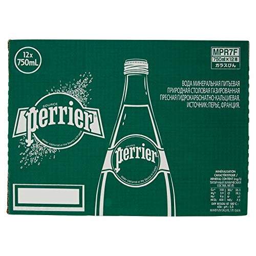 12 Bottiglie ACQUA PERRIER FRIZZANTE 750 ML VETRO A PERDERE