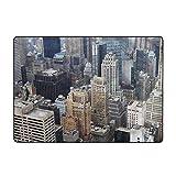 Alfombra para decoración del hogar con vista aérea de Nueva York, 1,5 x 1,8 m