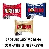 CAFFE' MORENO MIX 200 CAPSULE CIALDE TRE MISCELE COMPATIBILI NESPRESSO