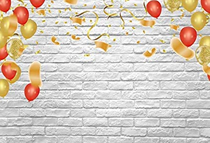 Vinyl 8x6.5ft Backdrop Photography Background White Brick Wall Computer-Print Seamless Photo Background Children Baby Adults Portraits Photo Studio Props