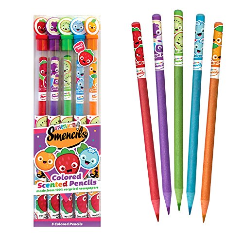 Scentco Colored Smencils - Scented Coloring Pencils, 5 Count