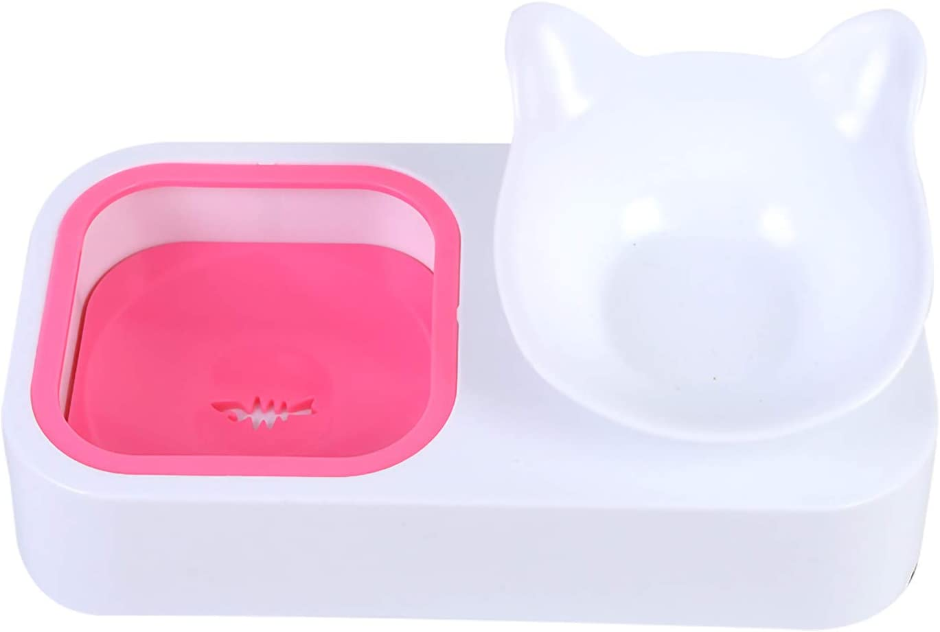 Owill Elevated Cat Popular brand Bowls Houston Mall Double Food Water 15° and
