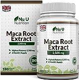 Maca Root 2500 mg - à base de racine de maca - Cure de 6 mois/180 Gélules -...