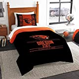 Oregon State Beavers Twin Comforter and Sham Set, Twin