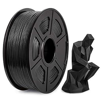 PLA Filament 1.75mm, PLA 3D Printer Filament, Enotepad PLA Filament 1KG (2.2 LBS) Spool, Dimensional Accuracy +/- 0.02mm, PLA Black
