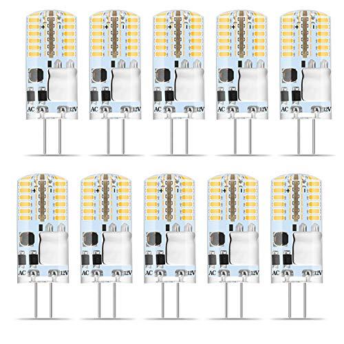 G4 LED Warmweiss, Wenscha 10er G4 12V LED Lampe, 3W Warmweiß 3000K 48x 3014 SMD Ersetzt 30W Halogenlampe, Kein Flackern, 300Lumen G4 Birne Leuchtmittel, 360° Abstrahwinkel Spot, Nicht Dimmbar