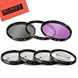 49mm 7PC Filter Set for Canon EF 50mm f/1.8 STM Lens - Includes 3 PC Filter Kit (UV-CPL-FLD) and 4PC Close Up Filter Set (+1+2+4+10)