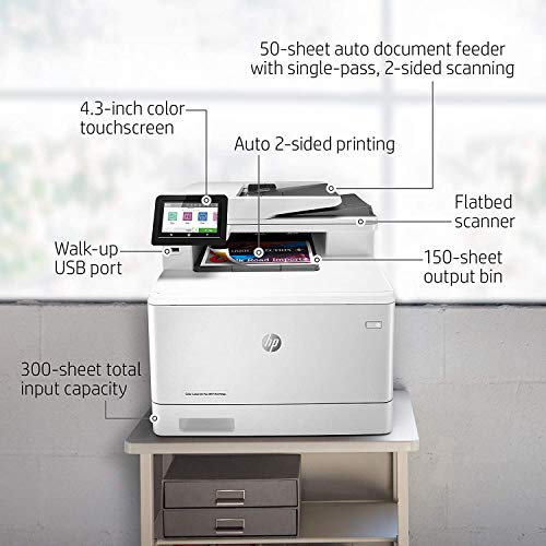 HP Color LaserJet Pro Multifunction M479fdn Laser Printer with One-Year, Next-Business Day, Onsite Warranty, Works with Alexa (W1A79A) – Built-in Ethernet Photo #10
