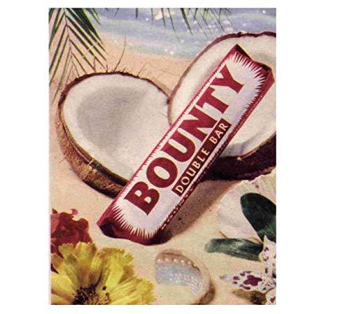 Bounty Dubbele Chocolade Bar Vintage Stijl Metalen Reclame Wandplaat Teken Of Ingelijste Beeld Frame,Aluminium Metalen Tekenen Tin Plaque Wall Art Poster Voor Home Decor 12