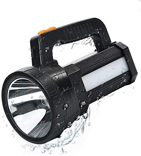 ERAY Handscheinwerfer Wiederaufladbar USB, Handscheinwerfer LED Akku 11000 lm 9600mAh Power Bank & IPX4 Wasserdicht & 6 Modi Suchscheinwerfer Handscheinwerfer LED Aufladbar Notfallleuchte für Camping