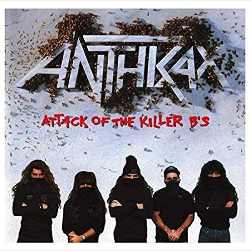 RZHSS Anthrax: Attack of The Killer B S Music 2018 Cover Album Poster Wall Art Picture Stampe su Tela Home Decor Opere d Arte -60X60Cm Senza Cornice