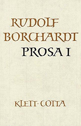 Gesammelte Werke in Einzelbänden / Prosa I