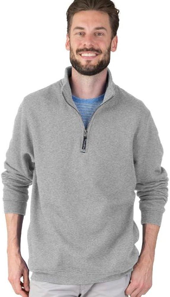 Charles River Apparel Men's Crosswind Quarter Zip Sweatshirt (Regular & Big-Tall Sizes)