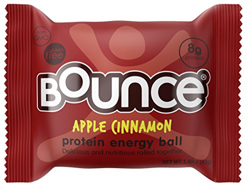 Bounce Natural Protein Energy Ball, Gluten-Free Vegetarian Snack with 8g of Whey Protein -...