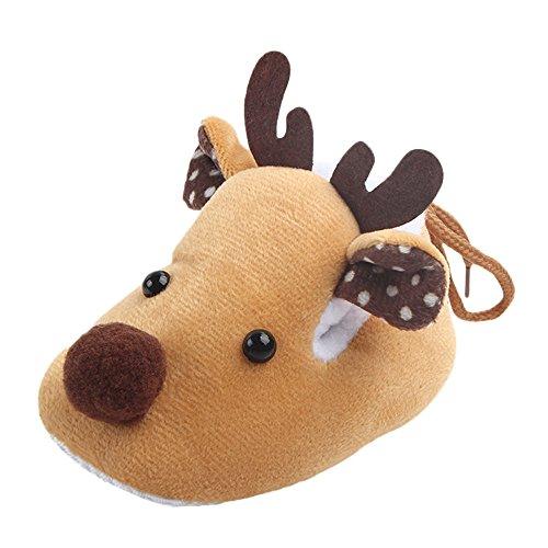 Zapatos de bebé, Navidad Infantil Navidad Cuna Zapato Suave Suela Ant