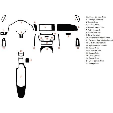 Brushed Black Rvinyl Rdash Dash Kit Decal Trim for Scion tC 2005-2010 Aluminum