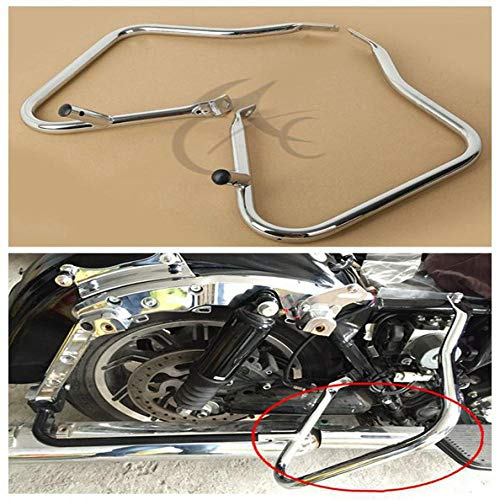 Discover Bargain Chrome Saddlebag Guard Bracket for Harley Touring Electra Glide Road King 14-18