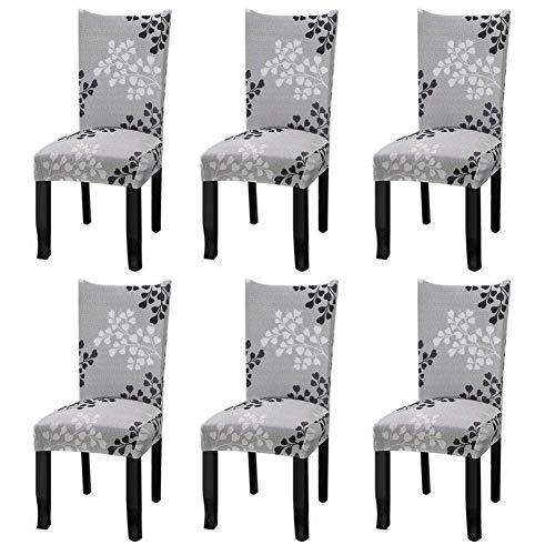 YISUN Universal Stretch Stuhlhussen 4er 6er Set Stuhlbezug für Stuhl Esszimmer Herbstlaub