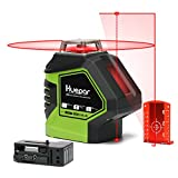 Huepar Self-Leveling Laser Level Red Cross Line with 2 Plumb Dots Laser Tool -360-Degree Horizontal Line Plus...