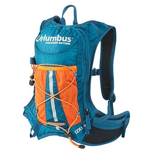 COLUMBUS Izki 4 L | Mochila de Hidratacion para MTB, Rutas en Bici Trekking o Trail Running con Elementos Reflectantes y Silbato de Seguridad. Incluye Bolsa de Hidratación de 1,5 L.