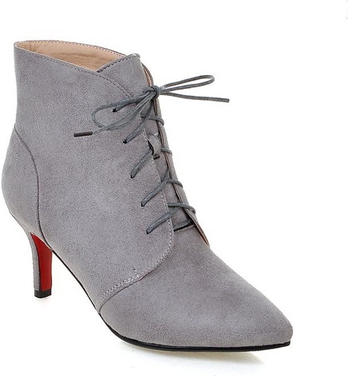 AdeeSu Womens Dress Pointed-Toe Slip-Resistant Suede Boots SXC02159