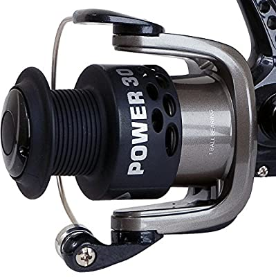 FLADEN POWER 30 (1BB) Rear Drag Fixed Spool Spinning Reel (Available in Grey/Black or Red) - Great Starter Reel by FLADEN