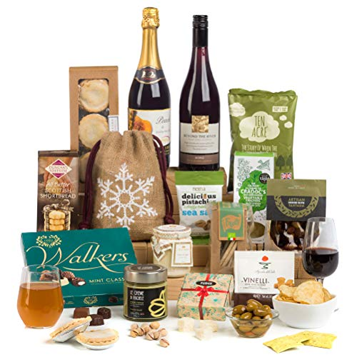 Hay Hampers Christmas Sharing Favourites with Wine in Hamper Gift Box - FREE UK Delivery …