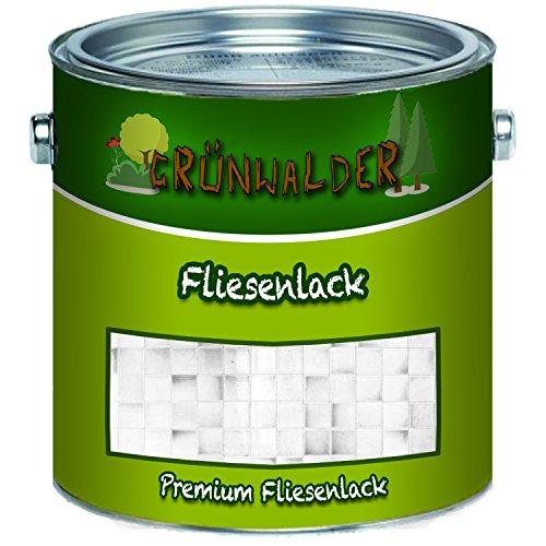 Grünwalder premium 2K Fliesenlack Fliesenfarbe farbauswahl (1 L, Anthrazitgrau)